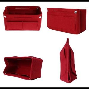 Felt Cloth Red Handbag Organizer